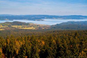 Výhled z rozhledny Moldaublick