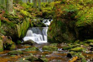 Vodopád cestou na Plešné
